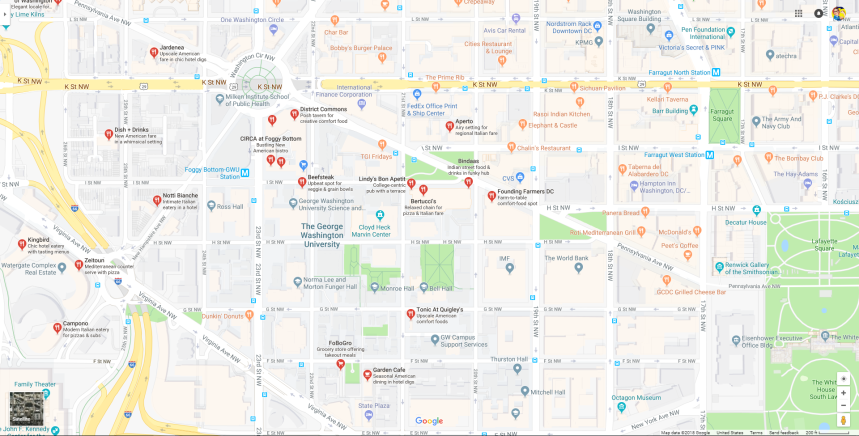map of restuarants
